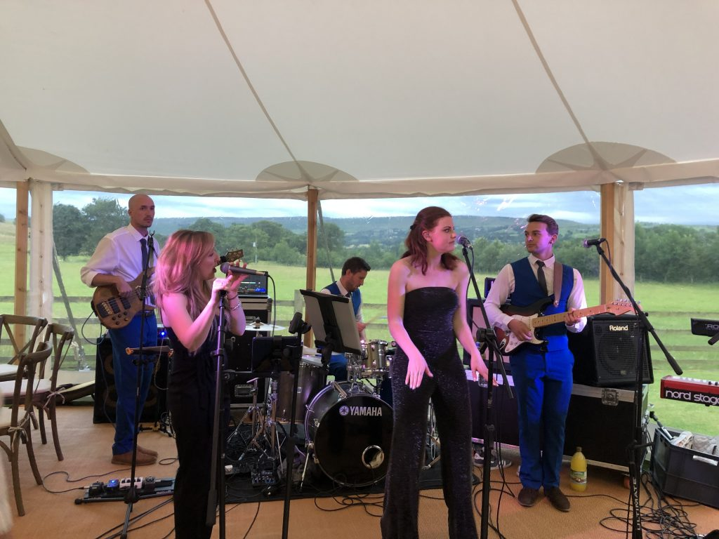 live music at a wedding marquee hire yorkshire and lancashire